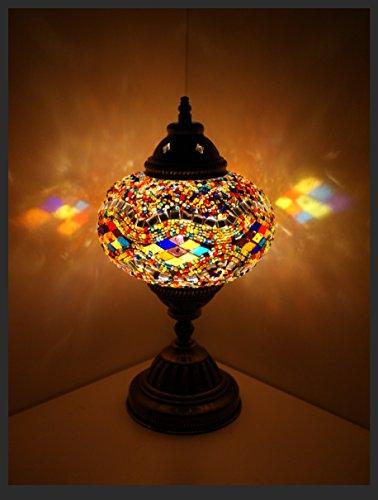 Mosaiklampe Mosaik - Tischlampe L Stehlampe orientalische lampe Bunt Samarkand-Lights