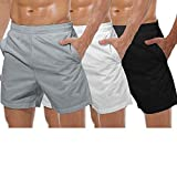 COOFANDY Men's 3 Pack Gym Workout Shorts Mesh Weightlifting Squatting Pants Training Bodybuilding...