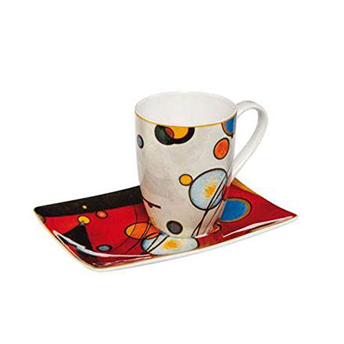 Goebel Schweres Rot - Künstlerbecher Artis Orbis Wassily Kandinsky Bunt Fine Bone China 67100041