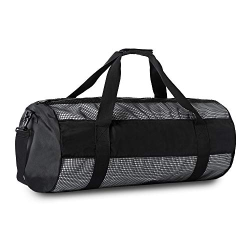 Mesh Duffle Bag Extra Large Dive Gear Bag, Mesh Duffel Gear Bag Snorkel Equipement Carry Bag for Mask Snorkel Fins Scuba Diving Surfing Gear