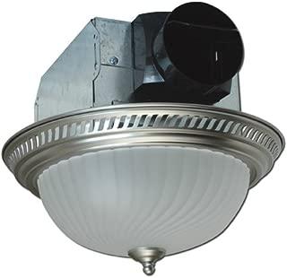 Air King AKLC702 Decorative Quiet Round Bath Fan with Light, Nickel