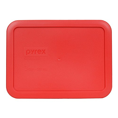 Pyrex 7210-PC Rectangle 3 Cup Storage Lid for Glass Dish (1, Red) by Pyrex