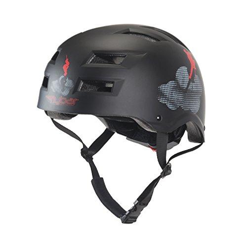 Flybar Dual Certified CPSC Stunt Helmet, Black,L/XL