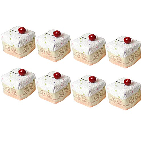 Songwol Towel Crunch Cake Shape Cotton Hand Towels Cakes Wedding Favors (Ivory, 8)