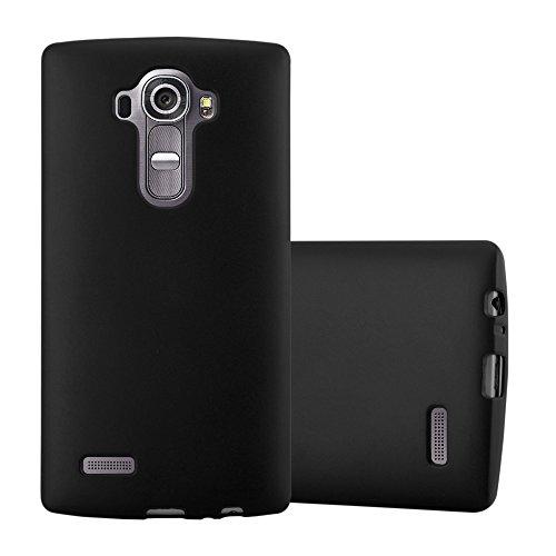 Cadorabo Funda para LG G4 en Metallic Negro - Cubierta Proteccíon de Silicona TPU Delgada e Flexible con Antichoque - Gel Case Cover Carcasa Ligera