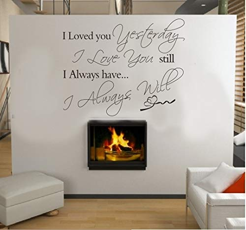 Pegatinas de pared para encimeras de cocina, personajes'I Love You Yesterday', moderno, negro, para nevera, adhesivo de vinilo, puerta, baño familiar, adorno, acrílico, fondo navideño, 56x45cm
