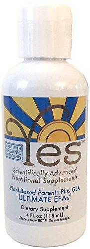 Yes Ultimate EFAs Parent Essential Oils Liquid 4oz, Based On The Peskin Protocol, Organic Plant Based, Omega 3 6, No Fishy Aftertaste