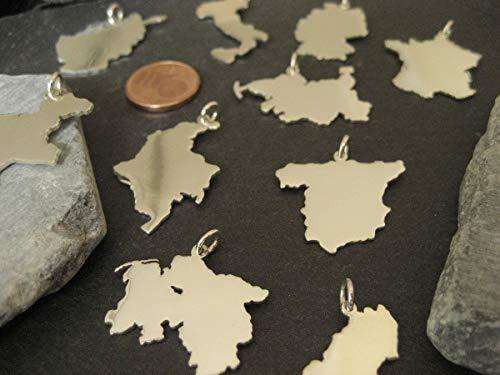 1 Landkarten Anhänger Ihrer Wahl in 925er Silber (eine Balearische Insel)