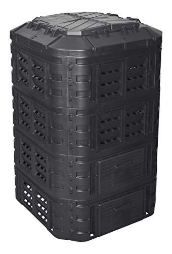 Komposter 1120L aus Kunststoff, Schnellkomposter mit Belüftungssystem, modular steckbar, für...