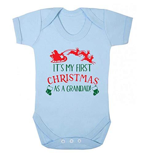 Flox Creative Baby Vest My First Christmas Grandad - Bleu - XL