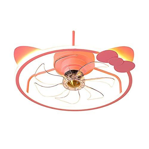 MINGRT Moderno Ventilador de Techo con Luz Dimable Lampara LED Techo con Control Remoto Silencioso Ventilador 3 Velocidades Ajustable Ventilador con Iluminación para Dormitorio Salón Habitación Infant