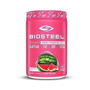 BioSteel Hydration Mix - Sugar Free, Essential Electrolyte Sports Drink Powder - Watermelon - 45 Servings