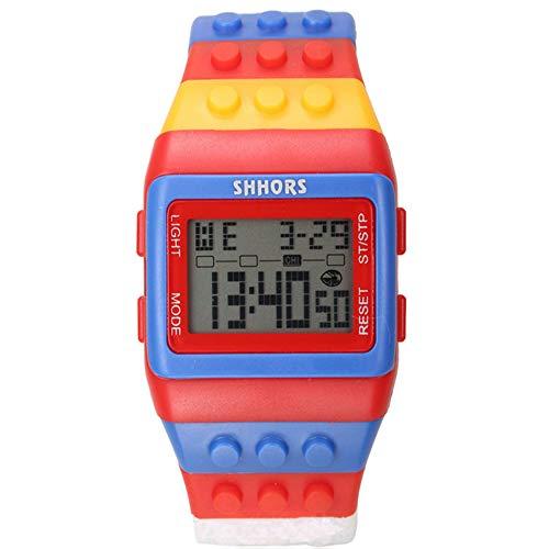 SJXIN Stilvolle Uhr SHHORS Middle School Student Uhr Regenbogen Multifunktions-Armbanduhr Großhandel 30 Meter wasserdichte Uhr Modeuhren (Color : 3)