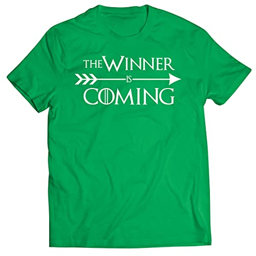 lepni.me T-Shirt pour Hommes Le Vainqueur EST à Venir Tenue de Motivation Hilarante pour Les Fans de Sport (M Vert Multicolore)