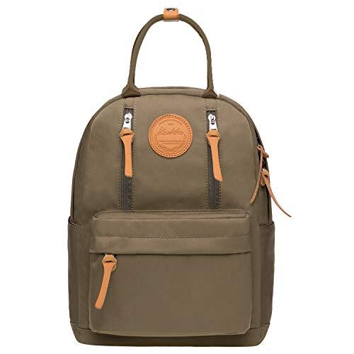 KAUKKO Unisex Schulrucksack mit Laptopfach für 10 Zoll Notebook, Multifunktion Rucksack für Wandern Reisen Camping 13.2 L (Armee Grün JNL-KS06-08)