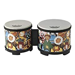 Rhythm Club Bongo Drum Synthetic head does not fluctuate in pitch With temperature and humidity changes Remo percussion instruments have an excellent reputation for holding up in an institutional or heavy use environment Package Dimensions: 13.716 L ...