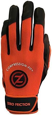 Zero Friction Men's Performance Baseball Batting Gloves, One Pai