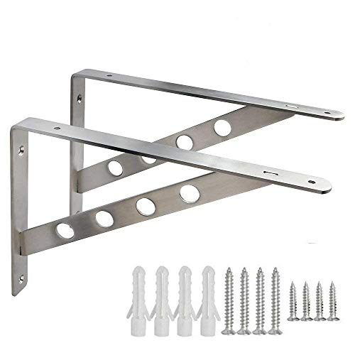 Dproptel Multifunktiuon Metall Schwerlastträger Winkel Konsole Wandregal Regalbodenträger Regalhalterung für Garden Hausdekoration (300*160mm)