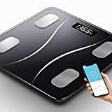 Toyuugo Bluetooth Body Fat Scale, Smart Wireless BMI Bathroom Weight Scale Body Composition Monitor Health...