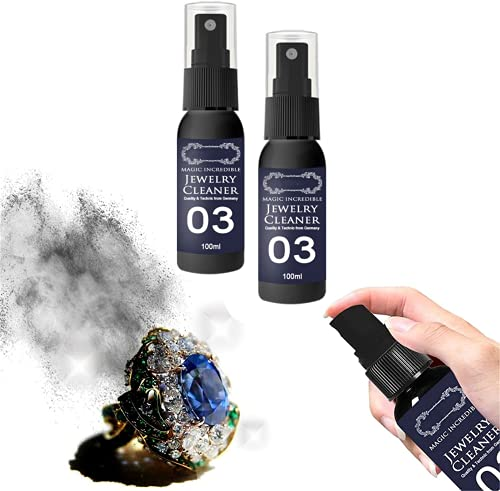 ZYKXSJ Jewelry Cleaning Spray,Platinum Liquid Cleaning Solution, Rust Remover Spray,Clean Gold Diamond Ring Watch And Remove Rust,Does Not harm Jewelry (100 ml 2)