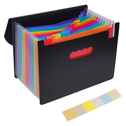 Yizhet Carpeta de acordeón, Carpeta Clasificadora Documentos A4 Extensible Archivador Acordeon Organizador Papeles 12 Bolsillos Separadores Plastico Carpetas Clasificadoras Organizadora