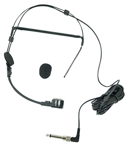 Dynamisches Mikrofon Headset mit 3,5 mm Klinke, 6,35 mm Adapter und Wind Sock Electrovision A090AG
