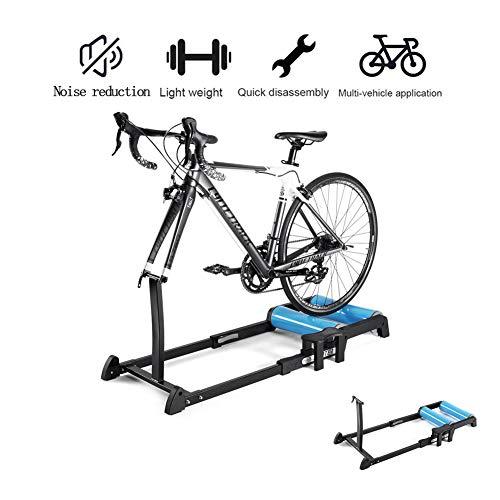 EXUVIATE Entrenador De Interior Rodillo De Entrenamiento Plegable Ajustable Bicicleta Trainer Soporte...