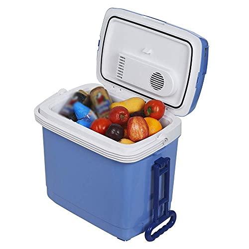 LXDZXY Mini Nevera, Mini Mini Nevera Personal Compacta Portátil, Enfriamientos; Capacidad Más Cálida, Ecológico para Oficina, Dormitorio Universitario, Dormitorio; Apartamento, Refrigerador,a,Azul (3