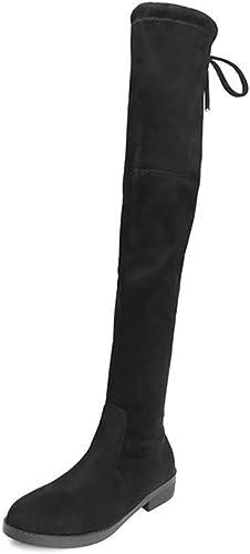 YALANDA 2018 Bottes pour pour Femmes sur Le Genou Stretch sur Les Chaussures à Plateforme pour Le Genou,Thin,42  première réponse
