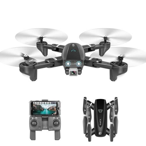 Amyove S167 GPS Drohne Mit Kamera 5G RC Quadcopter Drohne 4 Karat WiFi FPV Faltbare Off-Point Fliegen Geste Fotos Video Hubschrauber Spielzeug 2,4G 4K 3 Batterie