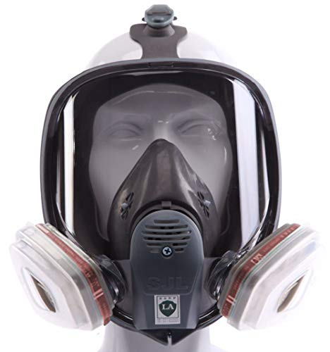 Full Face Respirator mask,Gas Mask with Activated Carbon Air Filter, Protect Against Gas,Paint,Dust,Chemicals