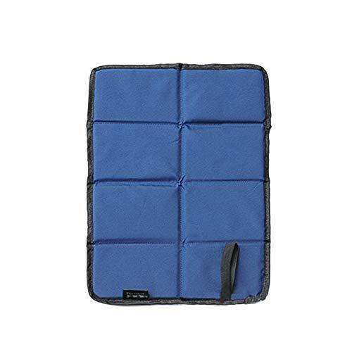 Kraeoke - Colchoneta plegable para asiento, térmica, para exterior, jardín, camping, impermeable y resistente a la humedad (azul)