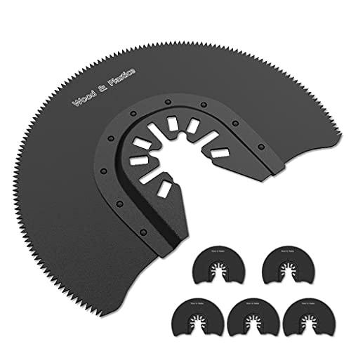 PHUAN 5pcs 88mm Oscilating Multi Tool Swade Blades Hcs Cuchillas Semi Circulares De Sierra De Segmento For Dremel Bosch Herramientas Eléctricas Accesorios