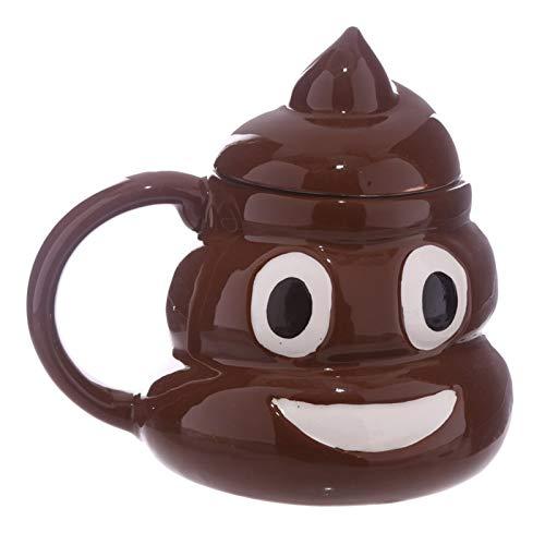Skdayy Wiederverwendbare Tasse Lustige Poop Kaffeetassen und Tassen Cartoon Lächeln Kaffee Milch Masse Porzellan Wasser Cup mit Handgriff Decken Teetasse Büro Drinkware Tassen (Color : Mug)