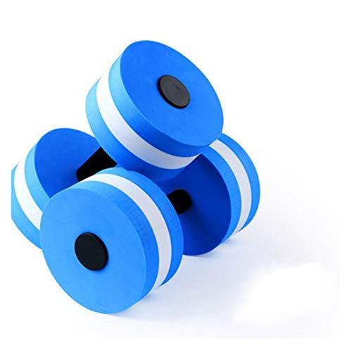 Body Building Water Dumbbell Peso Pesas Gimnasio Gimnasio Equipo Yoga para Entrenamiento Deporte Ejercicio De Plástico (Color : Blue)
