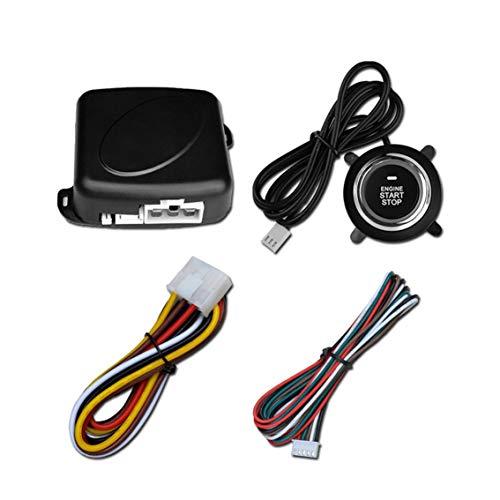 Alarma automática para automóvil de 12 V Motor de un botón Empuje Starline Arrancador RFID Interruptor de encendido Entrada sin llave Inicio Parada Sistema antirrobo - Negro