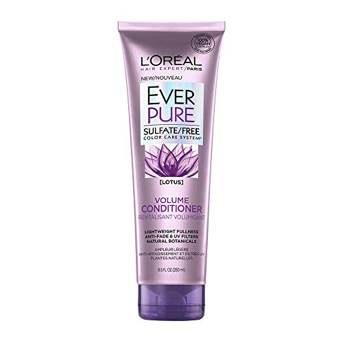 L'Oreal Paris EverPure Sulfate Free Volume Conditioner, with Lotus Flower, 8.5 Fl. Oz