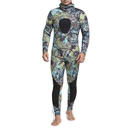 Dfghbn Traje De Buceo para Hombre Traje de Neopreno de 3 mm, Traje Completo para Snorkel, Buceo, Surf Conveniente para Ponerse (Color : MY047, Size : S)