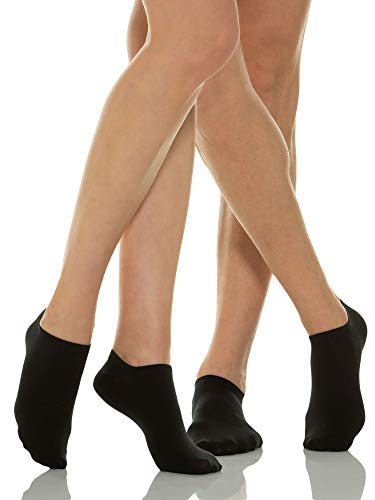 Relaxsan 560S (2 Pares - Negro, Tg.4) Calcetines cortos para diabéticos con tejido natural Crabyon