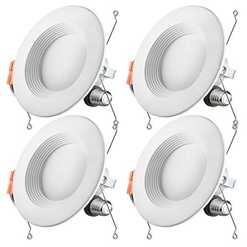 Otronics 5/6 Inch Dimmable LED Recessed Light Fixture,15W(100w Replacement) 1100 Lumens(CRI90)Daylight 5000k,LED Downlight Retrofit Kit,Energy Star UL-Listed,Pack of 4