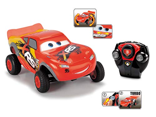 Dickie Toys 203084022 Lightning McQueen XRS, Cars, ferngesteuertes Auto, RC Fahrzeug, 1:24, 18 cm, rot