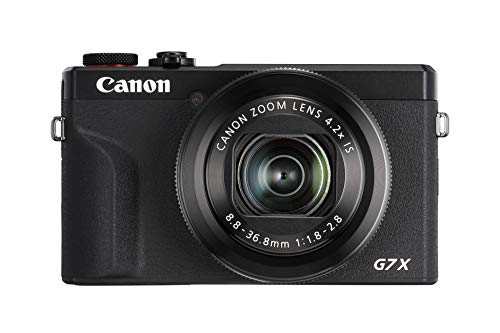 Canon PowerShot G7 X Mark III Digitalkamera (20,1 MP, 4,2-fach optischer Zoom, 7,5cm (3 Zoll) LCD-Touchscreen klappbar, DIGIC 8, 4K, Full-HD, WLAN, Bluetooth, Blendenautomatik; Zeitautomatik), schwarz