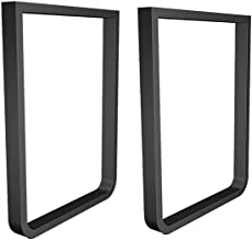 Metalen tafelbeen eettafel benen 28.5x17.7 inch, 2 stks zware bureau benen bankbenen, rustieke decorie DIY meubels benen i...