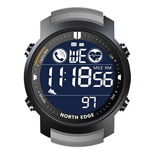 YZK Loker Smart Watch Menor de Ritmo cardíaco para Hombre a Prueba de Agua 50M Natación Pedómetro Pedómetro Cronómetro Smartwatch,A