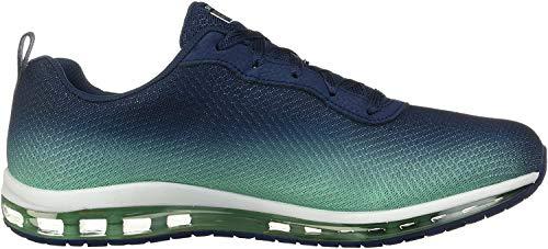 Skechers 12640/NVGR Skech-Air Element Damen Sneaker blau/türkis, Größe:38, Farbe:Blau
