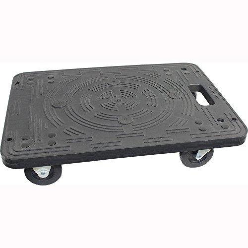 MaxWorks 80854 Polypropylene Dolly-200-lb Capacity , Black