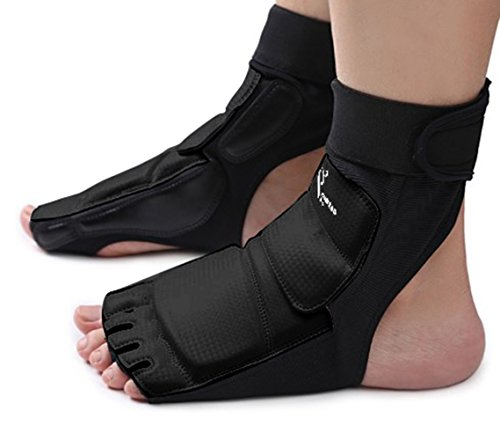 Adults Taekwondo Foot Guard Protector Karate Sparring Footgear for Women Men