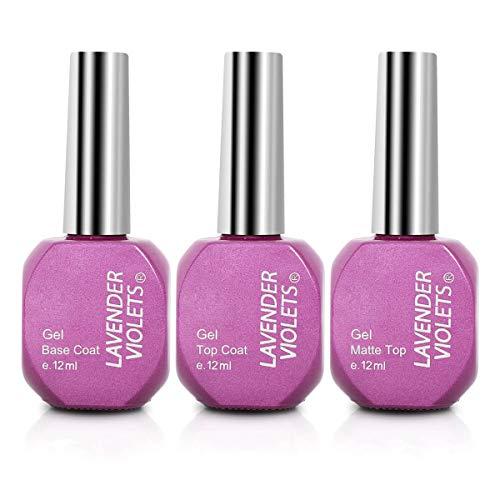 Lavender Violets® Soak-Off-Gel-Nagellack, 3 Farben, UV-/LED-Gel-Nagellack, Maniküre, Pediküre, professionelle Nagelkunst, Salon, 12 ml