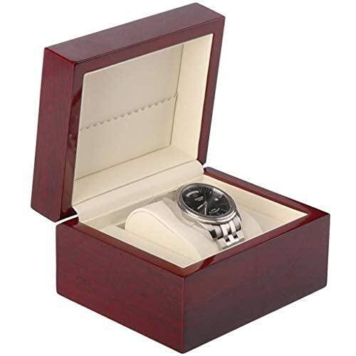 FGVBC Enrollador de Reloj automático, Caja de Almacenamiento de Madera, Almohadas de Terciopelo Personalizadas para el Titular Happy Life