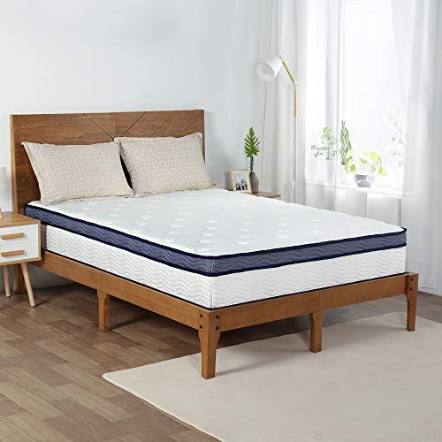 Olee Sleep 12 Inch Midnight Euro Top Gel Memory Foam Spring Hybrid Mattress, Mattress In a Box, CertiPUR-US Certified, Queen